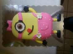 Minion cake for a little girl turning 2.