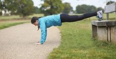 Woman doing push-ups on a bench - Mike Harrington/Digital Vision/Getty Images