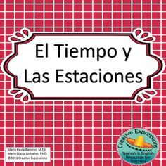 This lesson was designed for students to learn the seasons and weather vocabulary in Spanish.  The following are included in this lesson:     1.  Teacher's Guide                2.  Seasons and Weather Posters (4 labeled)                3.  Labeling of Seasons and Weather pictures                4.