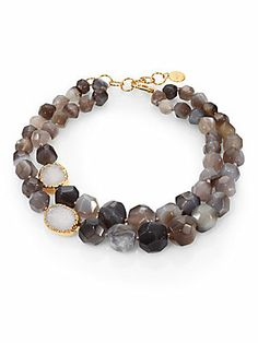 Nest Druzy & Agate Double-Strand Necklace