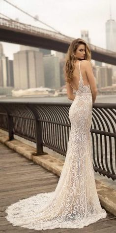 If you're after daring, ultra glamorous and completely unique bridal gowns, then you NEED to see the Berta Bridal 2018 collection. Hot off the press, could these be the most in-demand wedding dresses in the world? Green Wedding Dresses, Wedding Dresses 2018, Bridal Dresses, Berta Bridal 2018, Wedding Dresses Vancouver, Perfect Wedding Dress, Bridal Lace, Lace Wedding, Dress Collection