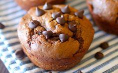 Flourless Chunky Monkey Blender Muffins | Dashing Dish