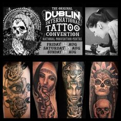 I gonna be @ Dublin Tattoo Expo Life Tattoos, Tatoos, Private Tattoos, Tattoo Expo, Geneva Switzerland, Original Tattoos, National Convention, Jesus Crown, Road Trip