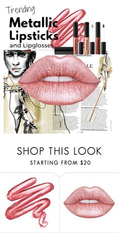 """""""Melallic Lipstick"""" by cashmeoutside ❤ liked on Polyvore featuring beauty and Lime Crime"""