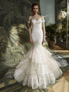 Blue by Enzoani - KATHY   Wedding Dresses & Bridal Gowns - Jaehee Bridal Atelier    #fitandflare #offtheshoulder #sweetheart #bridal #weddingdress