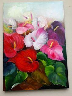 Tropical Artwork, Painted Flower Pots, 3d Drawings, Mandala Drawing, Flower Art, Art Projects, Abstract Art, Fine Art, Paintings