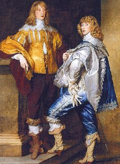 An Illustrated History of Fine Men's Boots  This painting of Lord John Stuart and his brother dates from the 1600's
