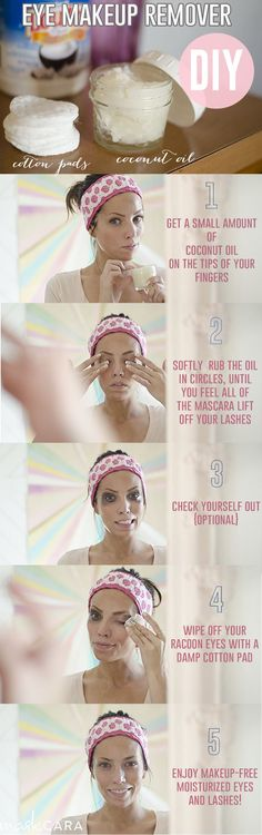 Easy, cheap and natural way to remove your makeup. I've never tried another way I liked better!