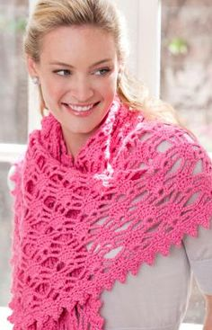 Simply Irresistible Shawl - free pattern @ Red Heart