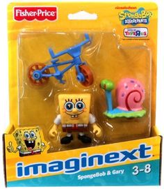 SpongeBob Squarepants Imaginext Exclusive Mini Figure 2-Pack SpongeBob & Gary by Fisher-Price. $13.99. imaginext spongebob. Imagine a world of action & excitement where you decide what happens next! This time, the world is under the sea, with SpongeBob & friends! Whatever world you travel to, its a whole new adventure every time you play! Imagination & Creativity, SpongeBob and friends encourage role play as kids recreate familiar adventuresor create new ones of the...