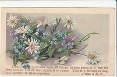 Godliness Is Profitable Unto All Things Flowers Religious Victorian Card C 1880s | eBay