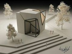 Architectural Concepts by Kosai Abohala www. Architectural Concepts by Kosai Abohala www. Conceptual Model Architecture, Maquette Architecture, Art Et Architecture, Classical Architecture, Amazing Architecture, Cubic Architecture, Ancient Greek Architecture, Architecture Classique, Cube Design