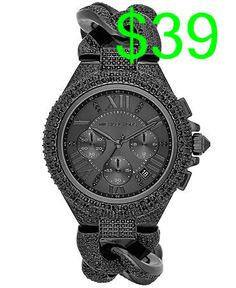 Michael Kors OFF! Michael Kors Camille Crystal Encrusted Chain Link Watch (Save Now through Carteras Michael Kors, Sac Michael Kors, Michael Kors Outlet, Handbags Michael Kors, Michael Kors Black, Mk Handbags, Black Stainless Steel, Stainless Steel Bracelet, Ring Armband