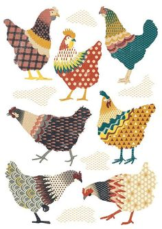 Seven Chickens Illustration