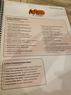 Cracker Barrel low carb menu