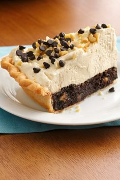 Perfect combo of peanut butter, brownie, and flaky pie crust!