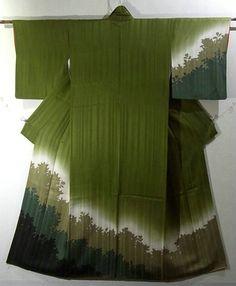 traditional forest green kimono