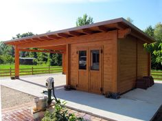 Planning To Build A Shed? Now You Can Build ANY Shed In A Weekend Even If You've Zero Woodworking Experience! Start building amazing sheds the easier way with a collection of shed plans! Carport Sheds, Carport Garage, Pump House, House Deck, Wooden Carports, Wooden Garages, Parking Plan, Home Depot Shed, Garden Huts