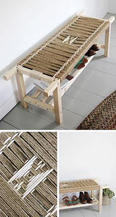 DIY Woven Bench: