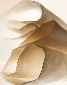 Abstract Photography - 8x10 Macro Fine Art Print - Macro - Wall Art - Sheer Curtain, Transparent Beige Fabric, Light