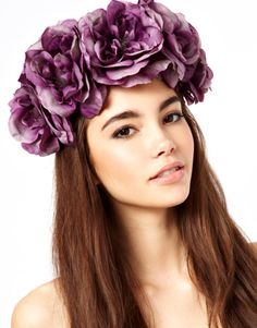 Rock 'N' Rose | Rock N Rose Ophelia Pale Purple Oversize Crown at ASOS