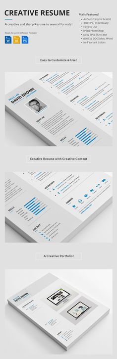 Creative Resume Creative, Creative resume templates and Cv design - free download of resume format in ms word
