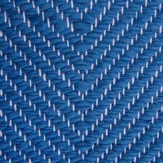 Vertical Herringbone, azure on the white yarn Vandra Rugs Yarn Colors, Natural Linen, Scandinavian Design, Herringbone, Wool Felt, Bespoke, Rugs, Interior, Pattern