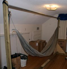 indoor hammock bed with stand | Gabby\'s Room | Pinterest | Indoor ...