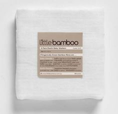Little Bamboo Organic Muslin Squares (Pack of 10) from My Child part of the Muslin Squares range available at PreciousLittleOne