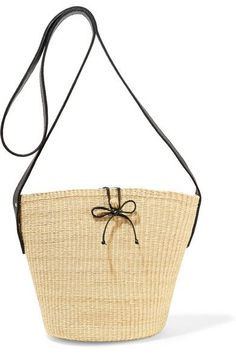 Sensi Studio's bag is skillfully hand-woven from toquilla straw - it takes artisans over two days to create each one. This structured style is left unlined for lightness and detailed with a smooth black leather shoulder strap, tie and interior pocket. Wear yours while sightseeing or on busy days in the city.