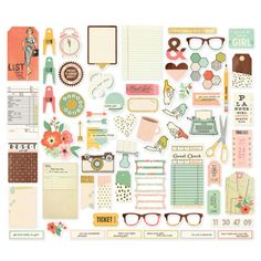 Simple-Stories-RESET-GIRL-Inserts-Dividers-Stickers-fits-A5-Filofax-planners