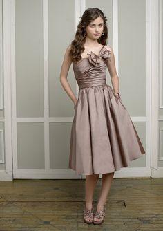 Bow Strapless Knee Length Formal Dresses