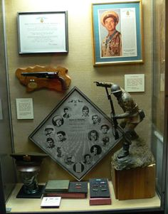 Medal of Honor display case of Audie Murphy at the National Infantry Museum, Fort Benning, Georgia.