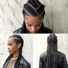 Braids ProtectiveBraidsHairstyles Click this image for more info - braids Black Girl Braids, Braids For Black Hair, Girls Braids, Braids For Black Women Cornrows, African Braids Hairstyles, Braided Hairstyles, Cool Hairstyles, Hairstyles Videos, Ethnic Hairstyles