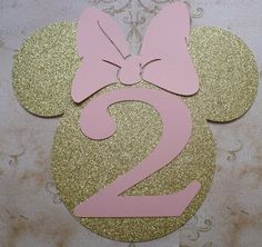from ear to ear Large Minnie Mouse Head Shape Pink 2 yr Die Cut for crafts DIY Gold Glitter Birthday Party Banners Wall Door Decorations Minnie Mouse Decorations, Minnie Mouse Theme Party, Minnie Birthday, Mickey Minnie Mouse, Mouse Parties, Glitter Birthday Parties, 2nd Birthday Parties, Birthday Crafts, Hobby Lobby Crafts