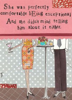 Perfectly Comfortable Card | Curly Girl Design
