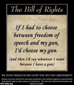 Yep!  I will back up my words with my gun if necessary!  LOL