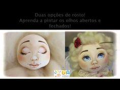 Curso de pintura de rosto em bonecos de tecido - YouTube