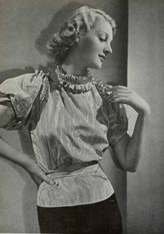 Moire Blouse, L'art et la mode magazine n°19, 1935