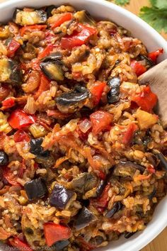 Easy Eggplant Recipe - This is the ultimate eggplant recipe to have! Made from basic ingredients and cooked in one-pot, this easy eggplant recipe can be served SO many ways! It goes as a meal alone, side, spread, salad–you name it! Delicious HOT or COLD! Healthy Meals, Easy Meals, Healthy Eating, Healthy Recipes, Healthy Eggplant Recipes, Easy Recipes, Stuffed Eggplant Recipes, Best Eggplant Recipe, Healthy Sauces