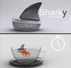 Sharky Tea Infuser- tea infuser by Pablo Matteoda promises to spice up your morning tea preparation