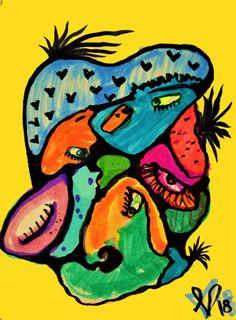 Sun Art, Yellow Sun, New Media, Fine Art Paper, Tigger, Saatchi Art, Comics, Abstract, Canvas