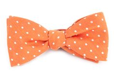 DOTTED DOTS BOW TIES - ORANGE | Ties, Bow Ties, and Pocket Squares | The Tie Bar