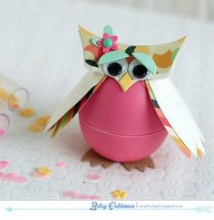 Lip Balm Owl by Betsy Veldman for Papertrey Ink (August 2014)