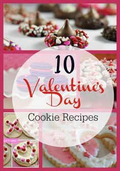 Here are 10 incredible Valentine's Day cookie recipes. These are all fun, beautiful, simple and impressive Valentine treats! Perfect for date night, parties, classroom exchanges or as a gift to your kiddo's teacher!