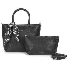 Desigual ALEXANDRA HOLBOX MINI Sac Noir pas cher - 😍 Découvrir ici : #Desigual #bags #Spartoo #Sacamain #Sacs #sacsDesigual #mode #fashion #tendances #BagsDesigual #instafashion Spartoo, Versace, Cheap Designer Purses, Mini Bag, Trends, Purse, Hands