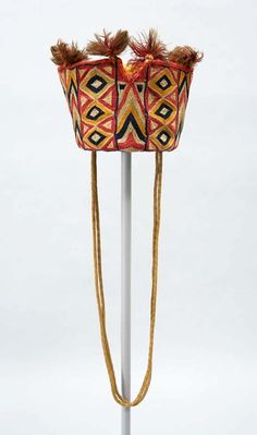 Africa | Soldier's Hat from Sudan | ca. 1870 - 1884 | Cotton and wool