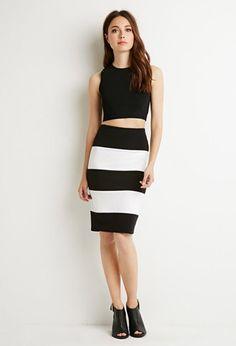 Stripe Pencil Skirt   Forever 21 Contemporary - 2000183672