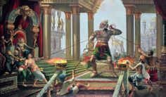 Hanuman in the palace of Ravana