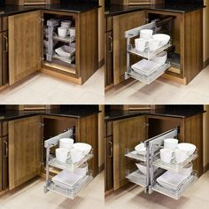 Blind Corner Organizers, Get use out of the empty wasted space in your blind corner cabinets. Slides out smooth for easy access and storage. For use in existing cabinets or new cabinets.